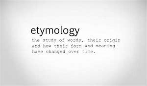 etymology 1
